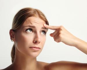 Examining forehead wrinkles