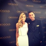 Denise Richards and ORO GOLD Skin Care Specialist