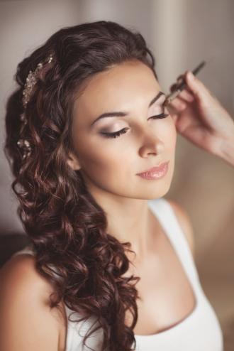 Doing a makeup test run ensures your face will look flawless on your big day