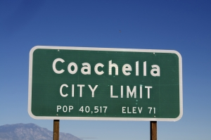 the city of Coachella is home to a popular outdoor music festival