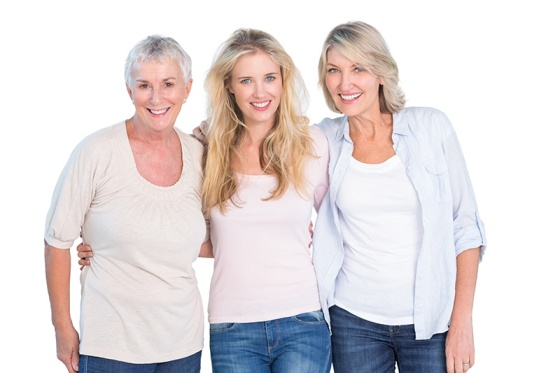 Three generations of ladies all look great
