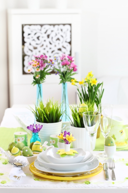 Time to bring out color and other decor elements for Spring.