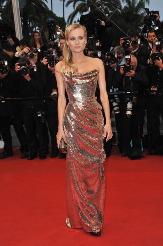 Actress Diane Kruger walking the red carpet