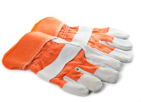 Orange Gardening Gloves