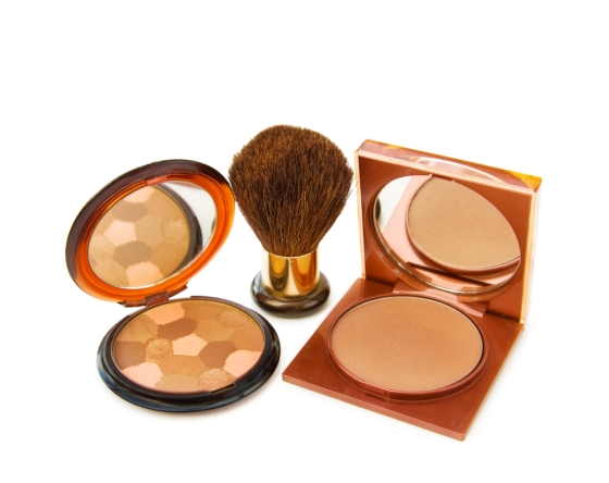 High end bronzer makeup with brush