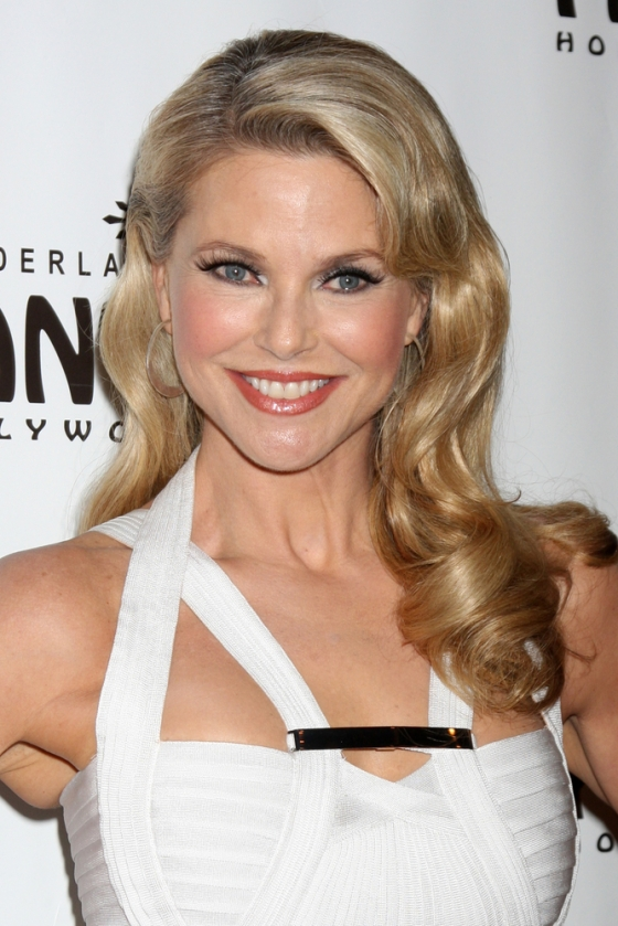 Smiling Christie Brinkley