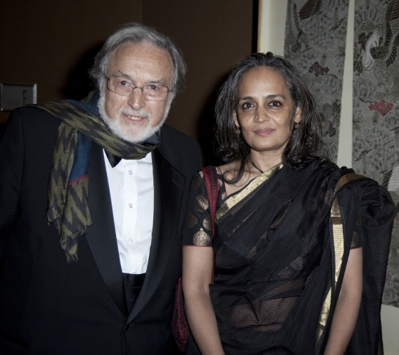 Lawrence Schiller and Arundhati Roy