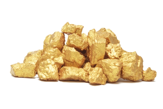 Mound of gold nuggets