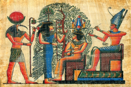Papyrus depicting ancient Egyptian civilization
