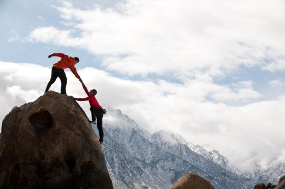 Doing something daring- climbing a mountain