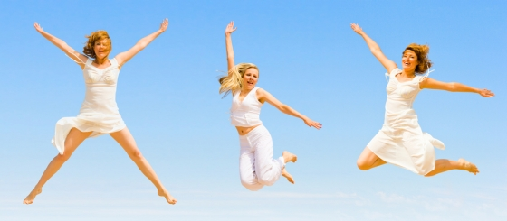 Forever young women jumping