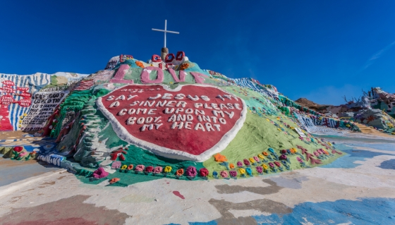 Salvation Mountain in Palm Desert, CA