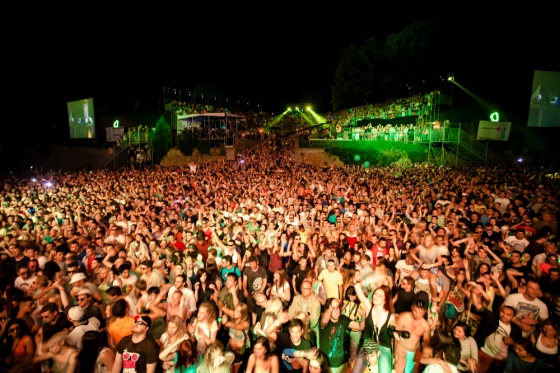 Exit music festival in Serbia