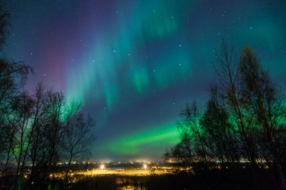 Breathtaking views of the Northern Lights phenomenon.