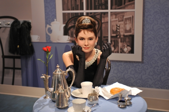 The Audrey Hepburn waxwork at the grand opening of Madame Tussauds Hollywood.