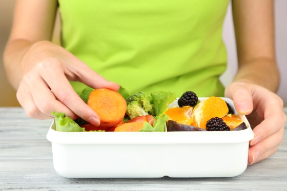 Woman on a vegan diet.