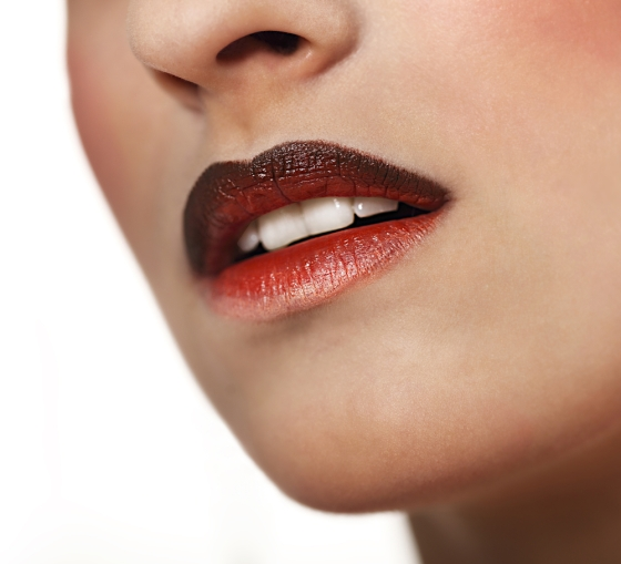 Ombre lips.