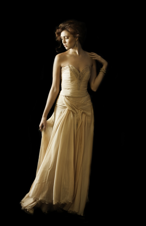 Champagne gold dress