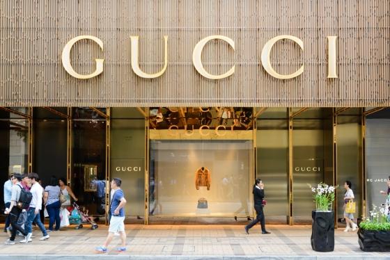 Gucci store.