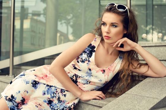 Stylish woman wearing a dress