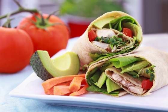 Vegan sandwich wrap