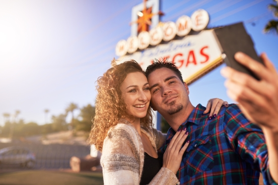 Couple in Las Vegas