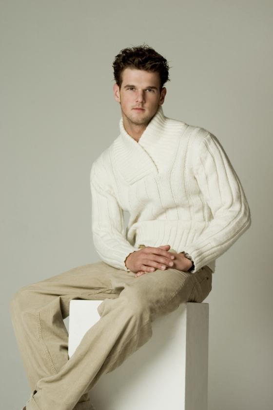 Man wearing khaki pants