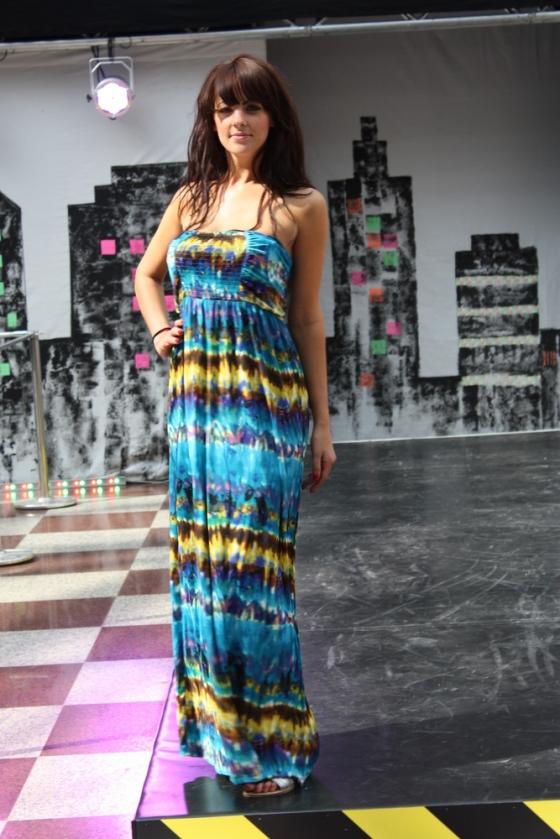 Polynesian maxi dress