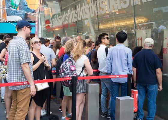 Broadway show line