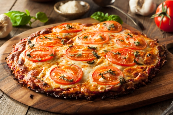 Vegetable pizza crust