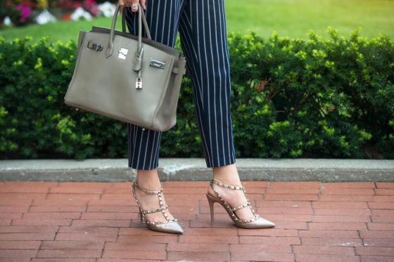 Woman in capri pants and heels