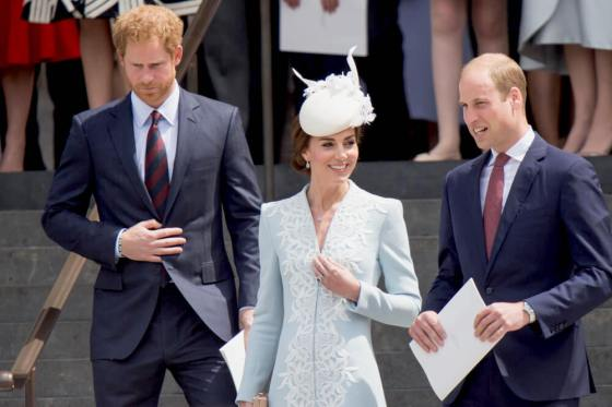 Kate Middleton with Prince Harry and Prince William